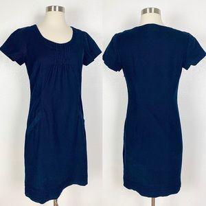 BODEN Navy Corduroy Short Sleeve Pocket Dress 4R